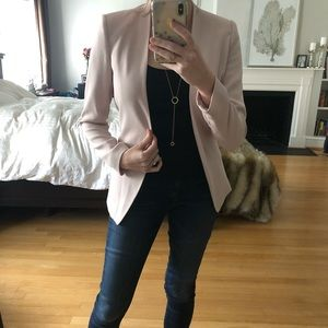 Club Monaco blush pink tie-back blazer sz 4